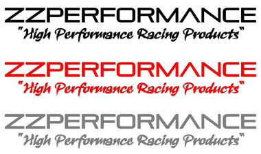 "ZZPERFORMANCE ""High Performance Racing Products"" DECALS"